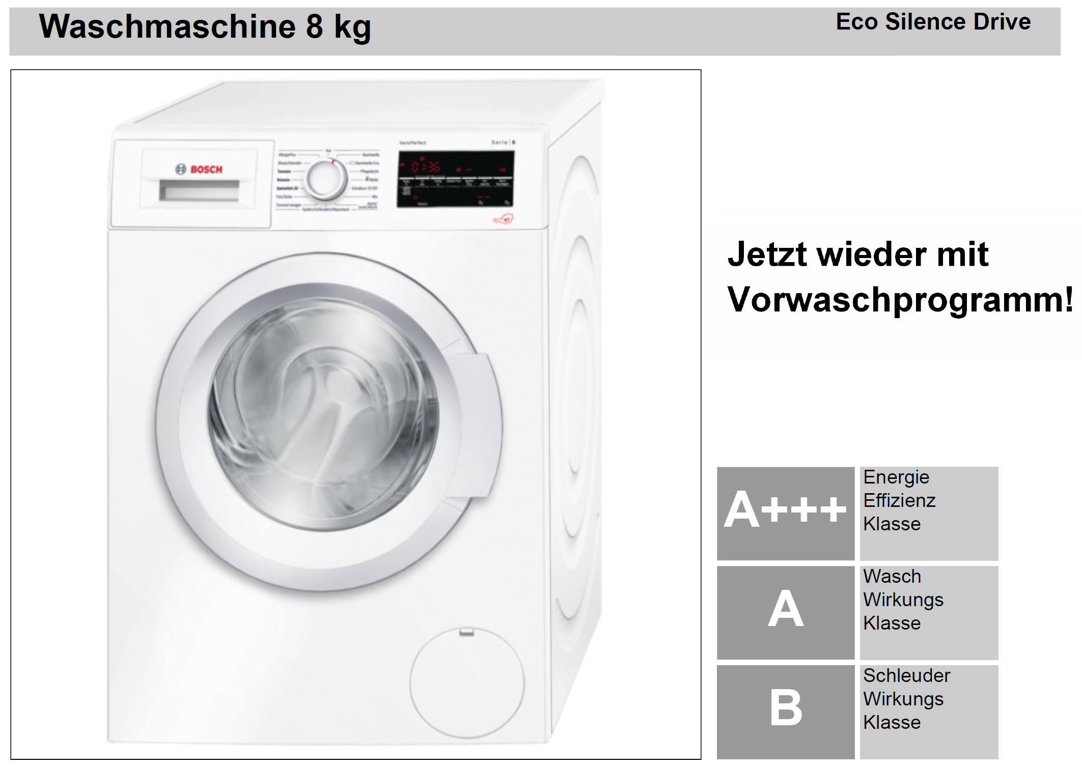 bosch waschmaschine 8kg plan work elektrotechnik gmbh. Black Bedroom Furniture Sets. Home Design Ideas