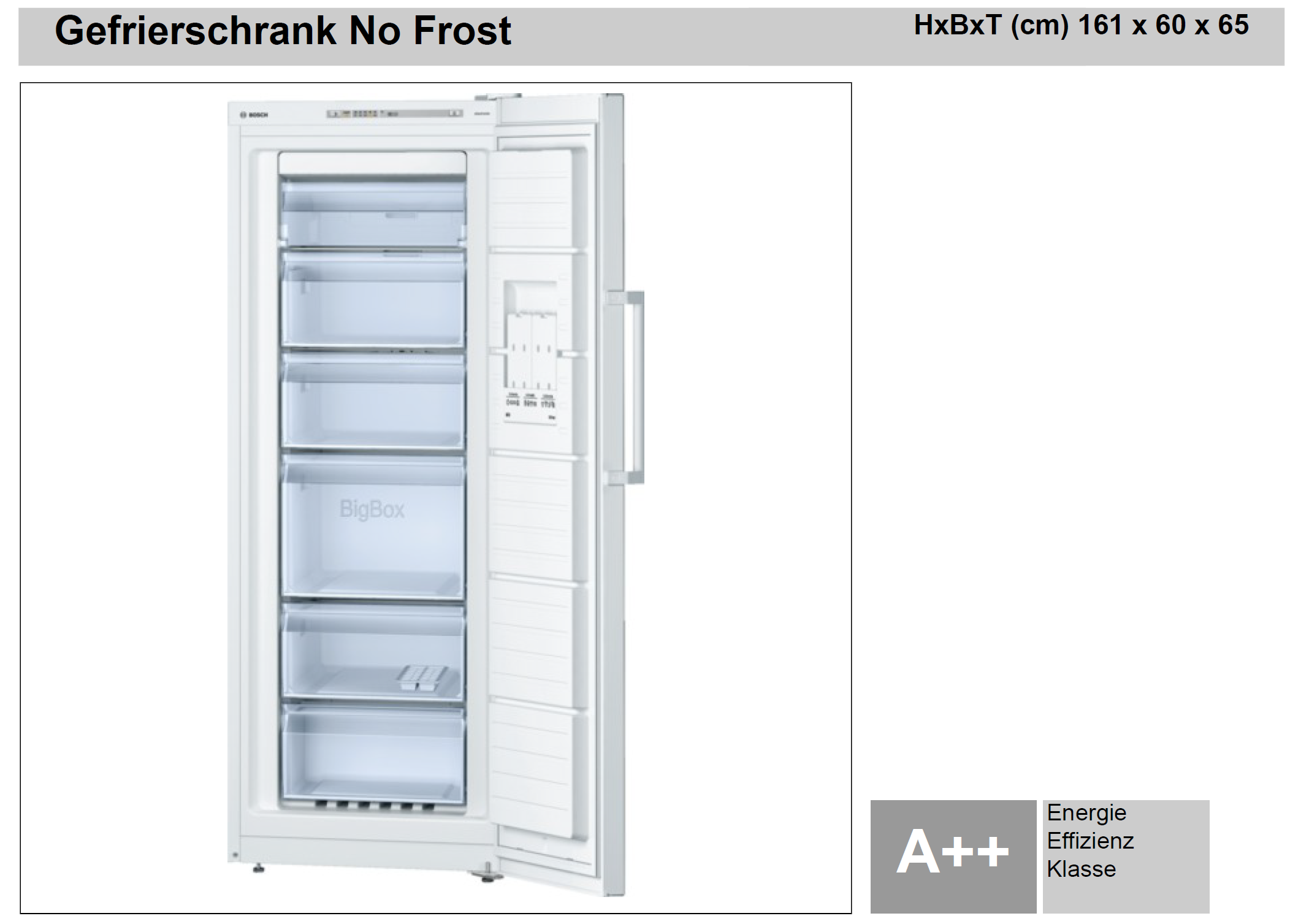Bosch gefrierschrank no frost plan work elektrotechnik for No frost gefrierschrank